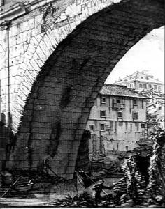 Puente Fabricio, Antichita Romane. G.B. Piranesi. 1756