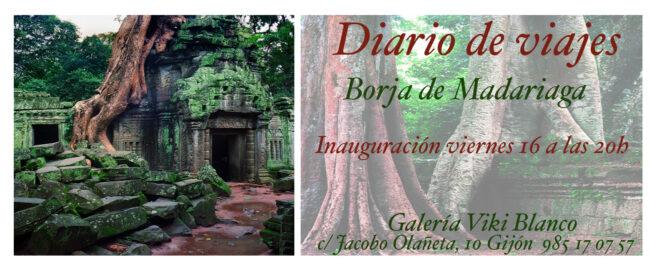 """Exposición """"Cuaderno de Viajes""""; Galería Viki Blanco en Gijón."""